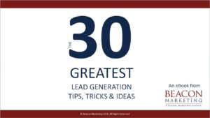 30 Lead Generation Tips Ebook cover